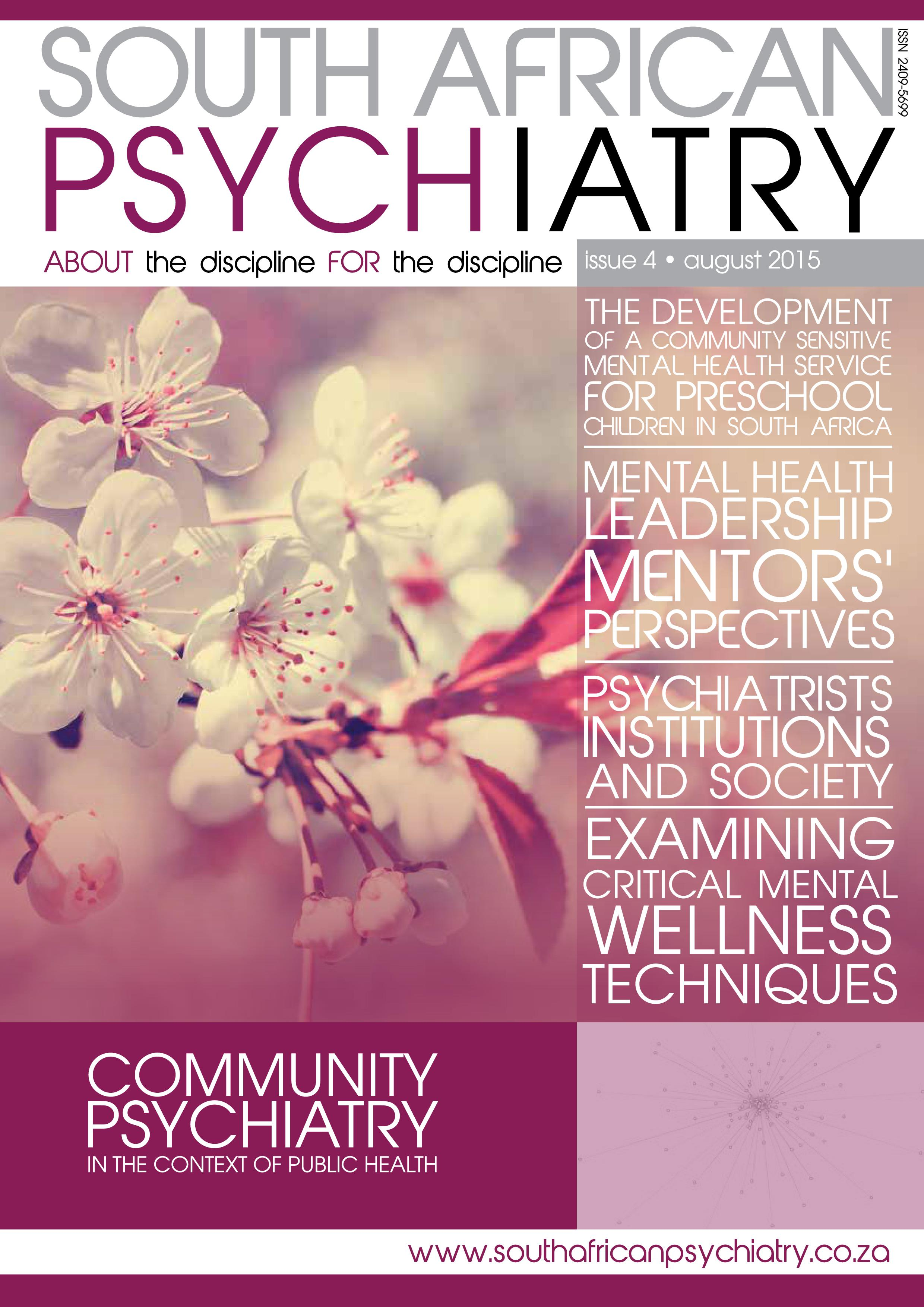 South African Psychiatry - August 2015